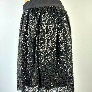 J. Crew Skirt Sequin Overlay Tulle Fully Lined